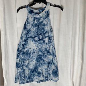 Olivia Sky- Blue tie dye tunic: M